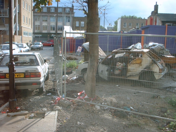 The site of the Gin Palace, Old Kent Road September 2002